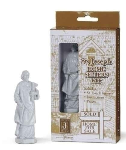 Saint Joseph Home Sellers Kit with Figurine and Prayer Religious House Sellers ()