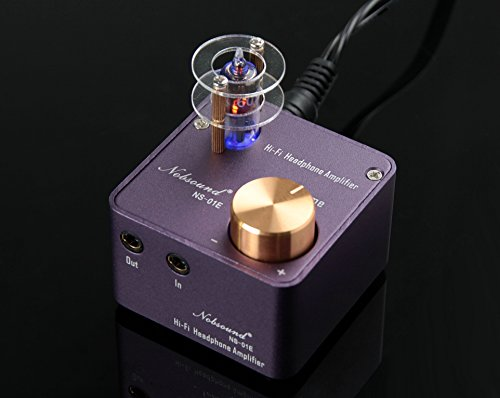 Nobsound NS-01E Mini Tube Headphone Amplifier Stereo HiFi Amp Audio Preamp