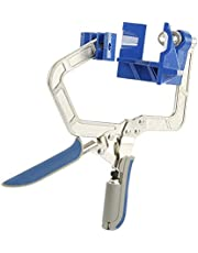 Auto-Adjustable 90 Degree Corner Clamp,90° Rugged Angle Right Corner Clamp Tools,Multifunction Corner Clamp Tools for Wood-Working, Engineering, Welding, Carpenter, Photo Framing