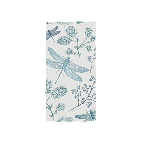 senya Blue Dragonfly Hand Towel Ultra Soft Luxury Towels for Bathroom 30