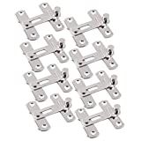Mike Home Stainless Steel Latch Door Buckle Door Latch Door Bolt Sliding Door Bolt Safety Bolt 8 Pcs