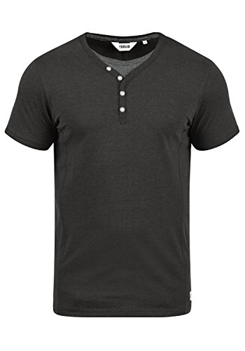 Uomo Corte Da T 8288 Maglietta A Maniche Collo Melange solid Dark Dorian Con Grandad shirt Grey 5X8UWq0wHT