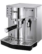 ماكينة قهوة نصف اتوماتيكية من ديلونجي - موديل Dlec860، لون فضي، مصنوعة من معدن الستانليس ستيل