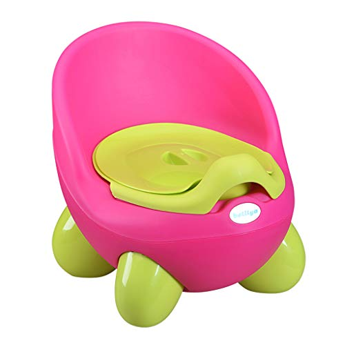Nesee Kids Toilet Training 2 in 1 Baby Toddler Potty Seat Trainer Chair for Boy and Girl Baby Toddler Kid Children's Toilet Training Seat Chair with Padded Seat (Hot Pink)