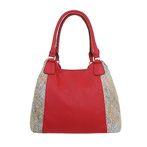 Ital de para Rojo hombro Design mujer al Sintético Bolso rxwnSrAvqI