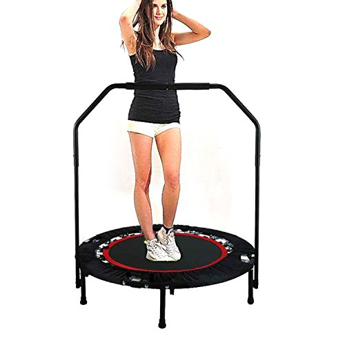 Benlet 40'' Trampoline Cardio Trainer with Adjustable Handle, Mini Trampoline For Kids Adult Fitness Exercise Workout Safety by Benlet