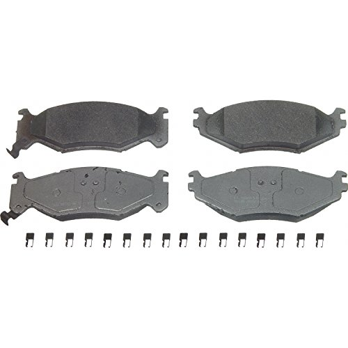 Wagner ThermoQuiet MX522 Semi-Metallic Disc Pad Set With Installation Hardware, Front Dodge Spirit Front Brake Pads