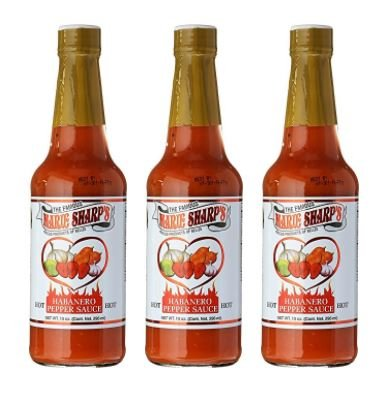 Marie Sharps Hot Sauce, Habanero Pepper, 10 Ounce (Pack of 3) ()