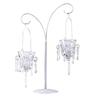 "12 Hanging Votive Mini Chandelier Wedding Decoration Centerpieces 17"" Tall"