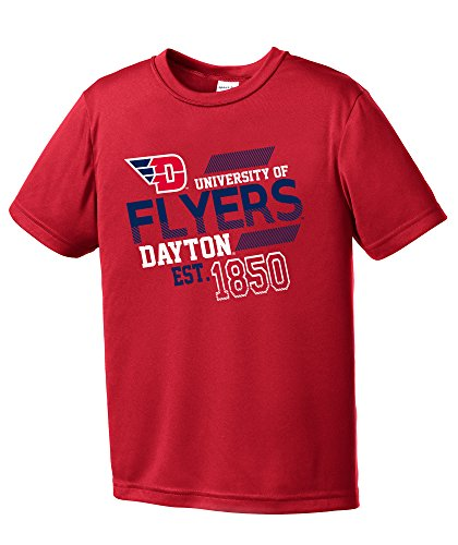 Dayton Flyers Baseball (NCAA Dayton Flyers Youth Boys Offsides Short sleeve Polyester Competitor T-Shirt, Youth Medium,Red)