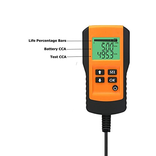 Car Battery Load Tester Digital 12V Car Battery Tester Automotive Battery Load Tester and Analyzer Of Battery Life Percentage,Voltage, Resistance and CCA Value For Gel, AGM, Flood, Deep Cycle Check by Enbar (Image #2)