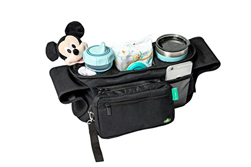PREMIUM BABY STROLLER ORGANIZER- By Baby Go Go – Universal Fit – Deep Insulated Cup Holders – Durable & Water Resistant- Plenty of Storage for Toys, Snacks, Wallets, Keys, iPhones, Diapers, Wipes Review
