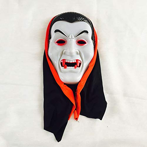 NOMSOCR Horror Mask, Halloween Mask Scary Devil Face Prank Vampire Mask for Adults Kids (Green)