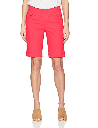 Jag Jeans Women's Ainsley Pull On Bermuda Short, Hibiscus, 6 (Bermuda Slim Shorts)