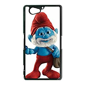 Christmas Style Cartoon Movie The Smurfs Phone Case Cover for Sony Xperia Z2 Compact Smurfs Phone Case