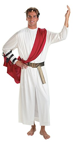 Disguise Mens Greek God Roman Caesar Toga Theme Party Fancy Costume, Standard (42-46) ()