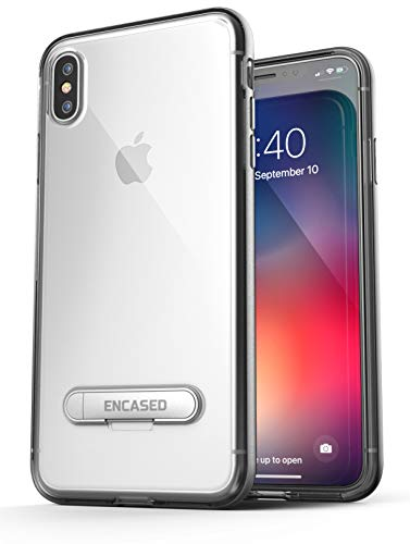 Encased Transparent iPhone Xs MAX Clear Case with Kickstand - for Apple iPhone Xs Max 6.5