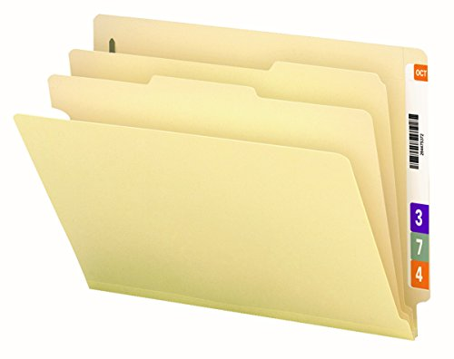 Smead End Tab Classification File Folder, 2 Dividers, 2