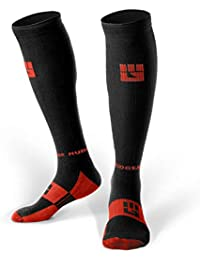 Premium Compression Socks - Mens & Womens Running Hiking Trail (1 Pair)