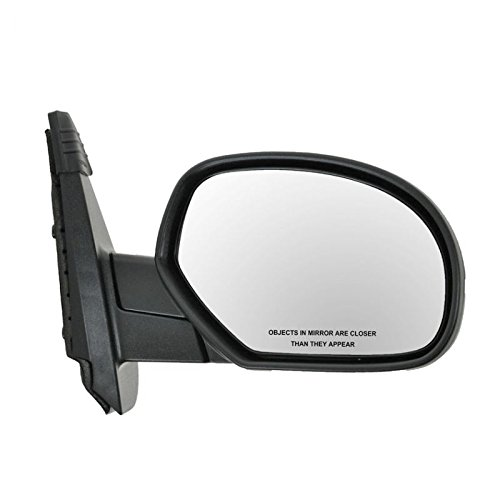 Manual Side View Mirror Textured Passenger Right RH for Chevy GMC Pickup Truck
