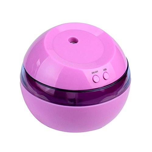 Price comparison product image Boofab Aromatherapy Essential Oil Diffuser Portable Aroma Humidifier Air Refresher Purifier with LED Ultrasonic for Office Home Car Vehicle Travel 290ml (Purple)