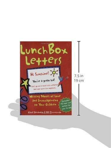 Lunch box letters writing notes of love and encouragement to your lunch box letters writing notes of love and encouragement to your children carol sperandeo bill zimmerman 8601420118027 amazon books spiritdancerdesigns Image collections