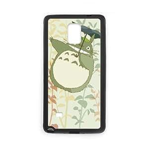 Mi vecino Totoro P4E1Wl Funda Samsung Galaxy Note caja del teléfono celular 4 Funda Negro Q9S4XR funda caja del teléfono celular Volver Durable