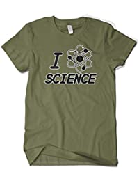 Men's I Love Science Atom Proton Electron T-Shirt