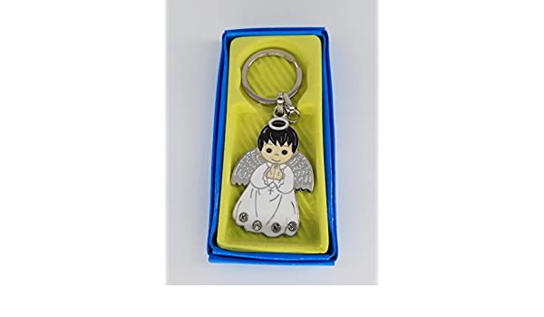 Amazon.com: 12 Pcs Boy Angel White Keychain First Communion ...