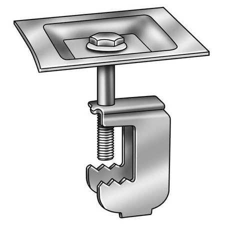 Grating Clip, Square, 1 1/2 H, PK50 by GRAINGER APPROVED