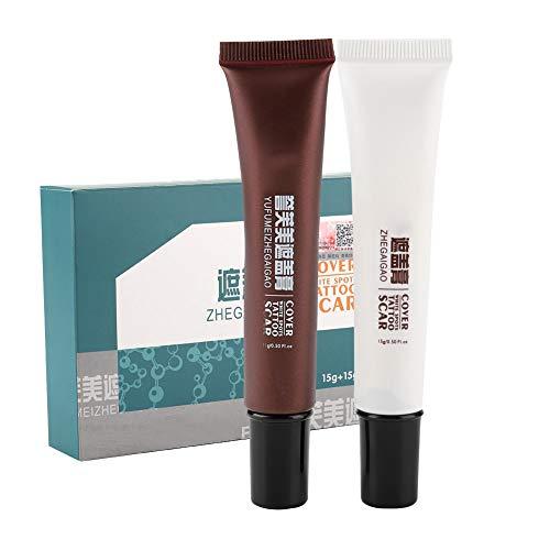 Concealer, Makeup Cover Cream, scar cover makeup,Scar Tattoo Concealer, Hiding Spots Birthmarks Makeup Cover Cream Set