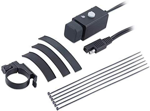 Nrpfell iPhone、タブレット、、用、SAEクイックコネクタと電源スイッチ、5Vスマート充電電源ポートを備えた、防水オートバイUSB充電アダプタ