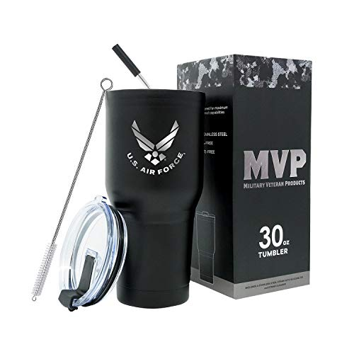USAF Black Double Wall Vacuum Insulated Travel Mug