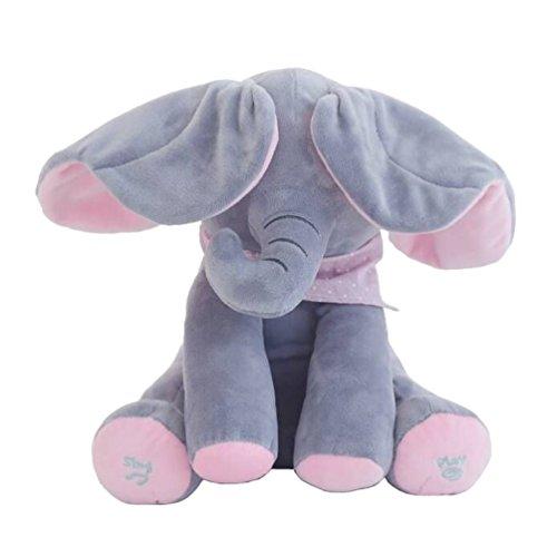 Aideal Flappy Elephant Plush Soft Toys Peek A Boo Pal