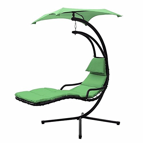 Swing Hammock Hanging Canopy Outdoor Patio Garden Chaise Lounger Chair Air Porch - Long Best For Face Glasses Shape
