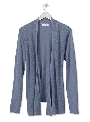 Orvis Women's Favorite Fine-gauge Waterfall Cardigan, Falls Blue, Medium (Orvis Cotton Cardigan)