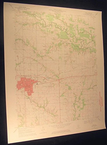 flora-illinois-clay-city-oil-field-1971-vintage-usgs-original-topo-chart-map