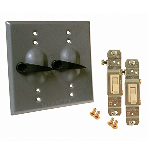 Hubbell 5124-0 Device Mount Switch Cover, 2 Gang Gray