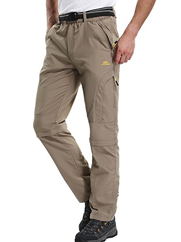 Men's Quick Dry Convertible Hiking Cargo Pant #6601,Khaki,36(Tag 3XL) by Jessie Kidden