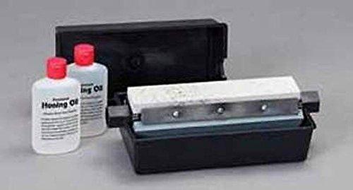 RH Preyda Fine, Medium and Coarse, 3 way sharpening system w/ oil bath, ABS Plastic, 8 x 1 5/8 x 1/2 (Stone Way 3)