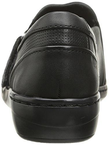 Clarks Evianna Einfache Wohnung Black Smooth Leather