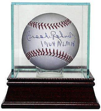 Brooks Robinson Autographed Signed Memorabilia MLB Baseball 1964 Al Mvp Glass Case- Beckett Holo 1964 Al Mvp Autographed Baseball