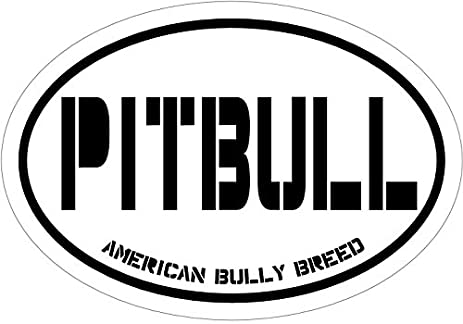 Pit bull decal american bully breed pitbull vinyl sticker pitbull bumper sticker perfect