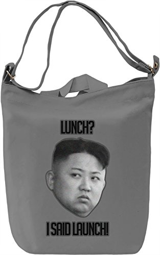 Kim Jong Un Lunch Borsa Giornaliera Canvas Canvas Day Bag| 100% Premium Cotton Canvas| DTG Printing|