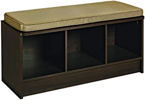 ClosetMaid 1570 Cubeicals 3-Cube Storage Bench, Espresso