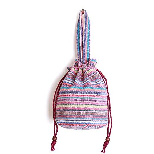 Bucket Shoulder Mini Travel Stylish Multicolored Cfz Hobo Bag Women Bag Drawstring Cotton 1171 Fabrics vnH6awqHz5
