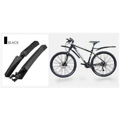 zimo Bicicleta 26 Pulgadas Rueda Delantera Protector Guardabarros Traseros Mud Fender para Su Bicicleta y Mountain Bike, Negro: Amazon.es: Deportes y aire ...