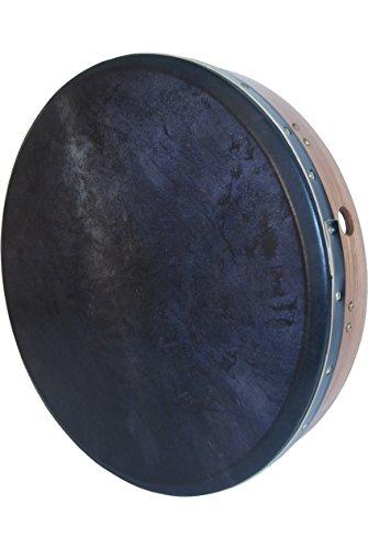 Inside Tunable Bodhran - Roosebeck Bodhrán 18 Inch Inside Tunable Cross-Bar Black Goat Skin Red Cedar + Tipper & Wrench