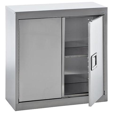 Sandusky Lee SA1D301230-XX 304 Stainless Steel Wall Storage Cabinet, 1 Adjustable Shelf, 30