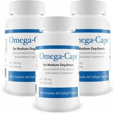 PHS 3PACK OmegaCaps For Medium Dogs (180 Softgel Capsules)